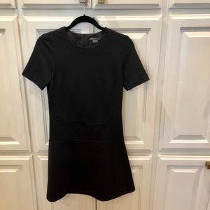 Vince A line black short sleeve dress